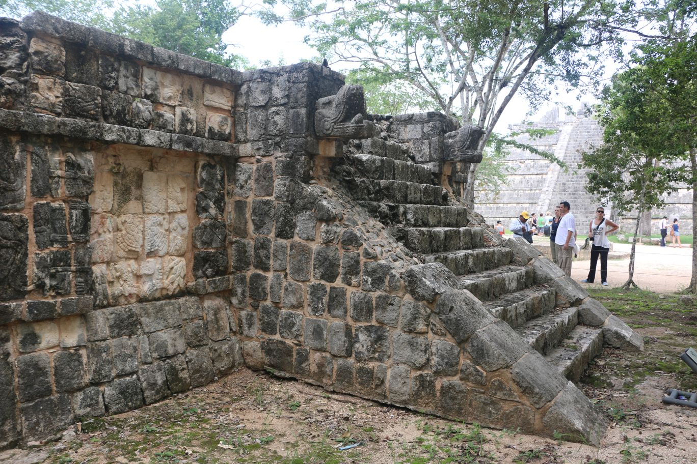Stones warily guarding the secrets of the Mayas