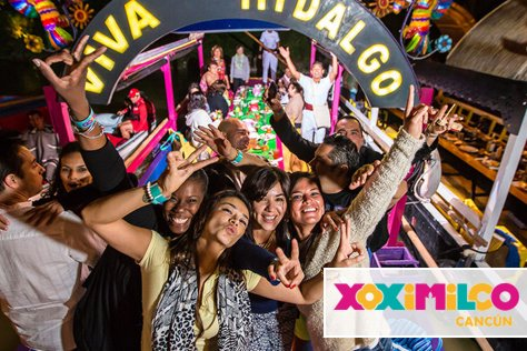 Xoximilco in Cancun: Party, Music and Folklore